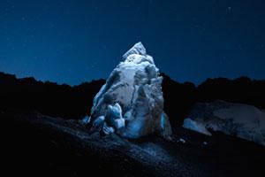 Ein Gletscher im Drohnenlicht
