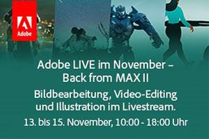 Adobe LIVE: Fotografie, Film, Illustration & Musical