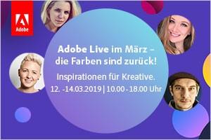 Adobe Live im März – die Farben sind zurück! (12.–14. März)