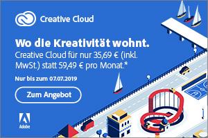 Hier wohnt die Kreativität: Jetzt 40 % Rabatt auf Creative Cloud