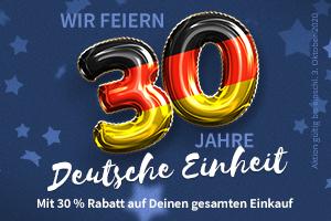 Feiert mit uns! 30 % Rabatt zum 30. Jahrestag der Deutschen Einheit